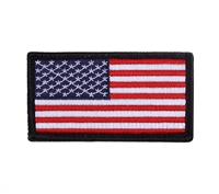 Rothco Black Border American Flag Patch 1884