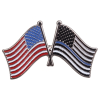 Rothco Thin Blue Line US Flag Pin 1966