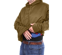 Rothco Coyote Brown Concealed Carry Hoodie  2081