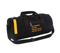 Rothco Black Canvas Equipment Bag 22334