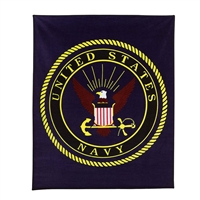 Rothco US Navy Military Insignia Fleece Blanket - 2301