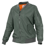 Rothco Sage Green Women MA-1 Flight Jacket 2420