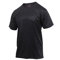 Rothco Black Quick Dry Moisture Wick T-shirt 2735