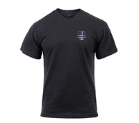 Rothco Thin Blue Line Shield T-Shirt 2937