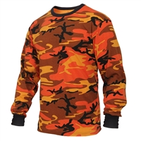 Rothco Savage Orange Camo Long Sleeve T-Shirt - 3136