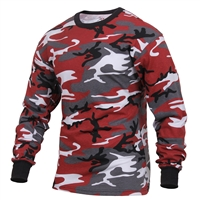 Rothco Red Camo Long Sleeve T-Shirt 3173