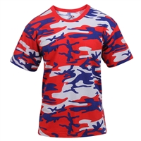 Rothco Red White and Blue Camo T-Shirt 3192