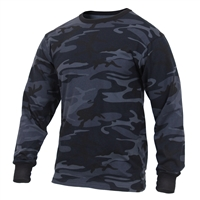 Rothco Midnight Blue Camo Long Sleeve T-Shirt 3637