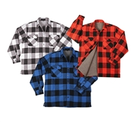 Rothco Heavyweight Sherpa-Lined Flannel Shirts - 3739