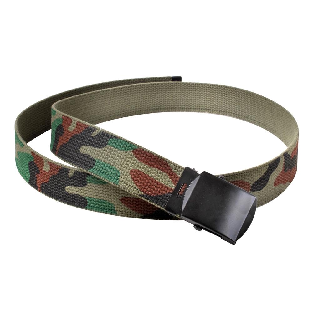Rothco Woodland Camo Reversible Web Belt 4178