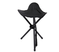Rothco Black Collapsible Stool with Carry Strap - 4584
