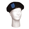 Rothco Black Wool Beret with Blue Flash - 4918