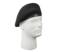 Rothco Inspection Ready Black Wool Beret - 4949