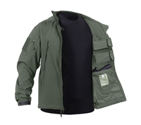 Rothco Olive Drab Concealed Carry Soft Shell Jacket - 55585