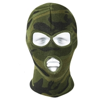 Rothco Woodland Camo 3 Hole Face Mask - 5596