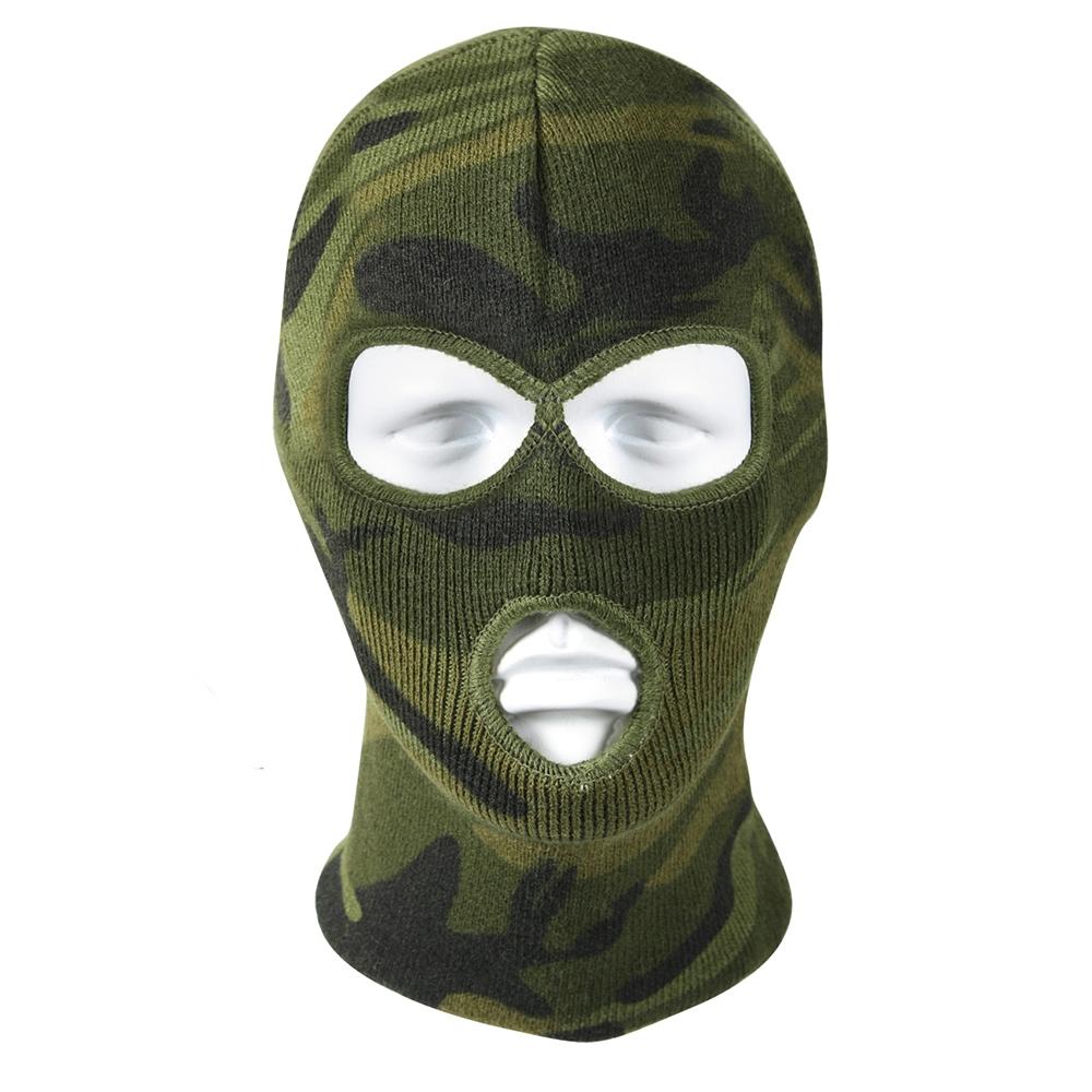 1d24f39de9517 Rothco Woodland Camo 3 Hole Face Mask - 5596