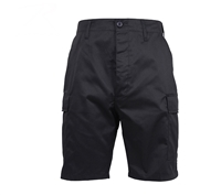 Rothco Black Zipper Fly BDU Shorts 5903