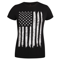 Rothco Womens Distressed US Flag Long T-Shirt 5983