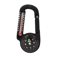 Rothco Carabiner Compass Thermometer - 6500