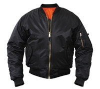 Rothco Black MA-1 Flight Jacket. - 7324