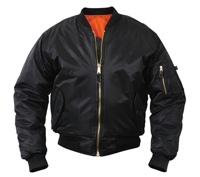 Rothco Black MA-1 Flight Jacket 7324
