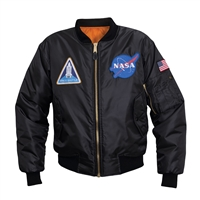 Rothco Black Nasa MA-1 Flight Jacket - 7328