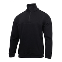 Rothco Black Heavy Duty Zip Workshirt - 7650