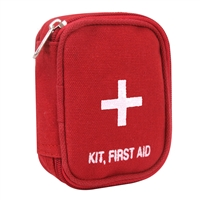 Rothco Red Military Zipper First Aid Kit with Contents - 8318