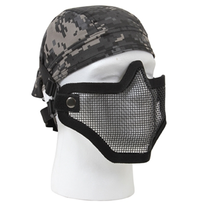 Bravo Tac Gear Strike Black Steel Half Face Mask - 847
