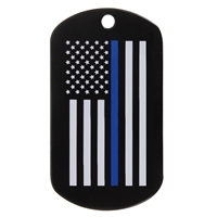 Rothco Thin Blue Line Dog Tag - 8513