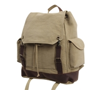 Rothco Khaki Vintage Expedition Rucksack - 8708