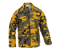 Rothco Stinger Yellow Camo BDU Shirts 8870