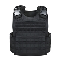 Rothco Black Molle Plate Carrier Vest - 8922