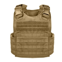 Rothco Coyote Molle Plate Carrier Vest - 8923