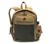 Rothco Khaki Vintage Star Backpack - 9165