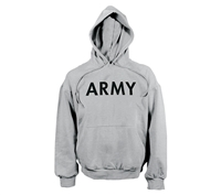 Rothco Grey Army Hooded Sweatshirt - 9189