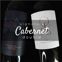 750ml bottle of 2014 QTR Cabernet Sauvignon from Napa Valley California and 750ml bottle of 2018 Rivers Marie Panek Vineyard Cabernet Sauvignon from Napa Valley CA