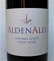 750ml bottle of 2015 AldenAlli Pinot Noir from the Sonoma Coast of California