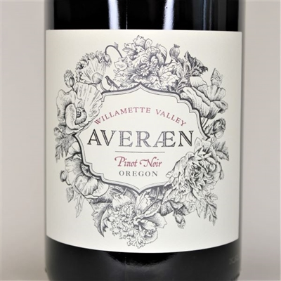 750ml bottle of 2017 Averaen Pinot Noir from the Croft Vineyard of Willamette Valley Oregon