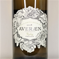 750ml bottle of 2018 Averaen Riesling from the Tunkalilla Vineyard of Eola-Amity Hills AVA in Willamette Valley Oregon