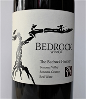 750ml bottle of 2017 Bedrock Wine Co. The Bedrock Heritage Red of Zinfandel Carignan Mourvedre and field blend from California old vine sites