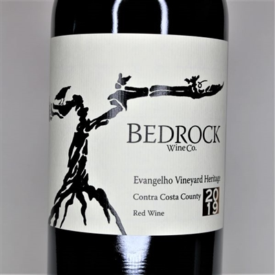 750ml bottle of 2019 Bedrock Wine Co. Evangelho Heritage Red of Zinfandel Mourvedre and field blend from California old vine sites