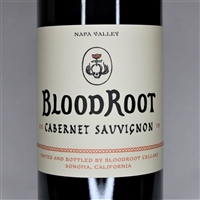 750ml bottle of 2018 Bloodroot Cabernet Sauvignon from Napa Valley California