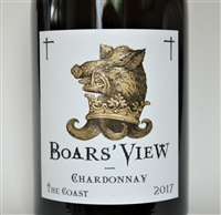 750 ml bottle of 2017 vintage Boars' View Chardonnay 'The Coast' by Schrader Cellars from the Sonoma Coast of California