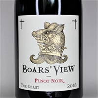 750 ml bottle of 2018 vintage Boars' View Pinot Noir by Schrader Cellars from the Sonoma Coast of California