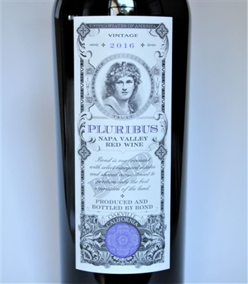 750ml bottle of 2016 Bond Pluribus red wine from Spring Mountain AVA of Napa Valley California