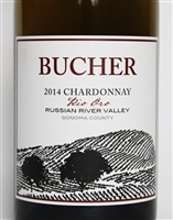 750ml bottle of 2014 Bucher Vineyard Rio Oro Chardonnay from the Russian River Valley of Sonoma California