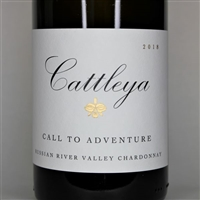 750ml bottle of 2018 Cattleya Chardonnay Call to Adventure from the Russian River Valley AVA of Sonoma County California