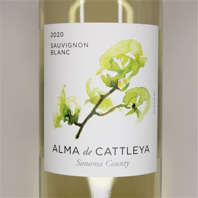 750ml bottle of 2020 Alma de Cattleya Sauvignon Blanc from Sonoma County California
