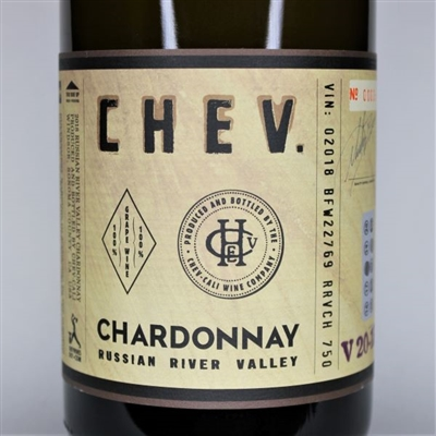 750ml bottle of 2018 Chev Chardonnay Russian River Valley Sonoma California